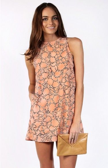 Deviation Dress Peach | Shop new @ www.bb.com.au/new