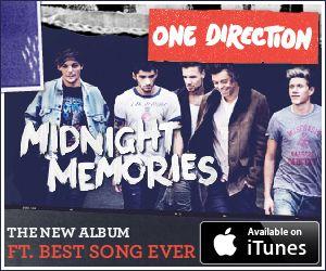 """""""Midnight memories"""" de One Direction.  Midnight Memories —en español: Recuerdos de medianoche— es el tercer álbum de estudio del grupo británico-irlandés One Direction.  POP-ROCK"""