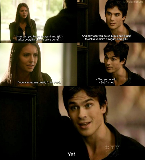 The Vampire Diaries ❤ one of my fav lines from season one