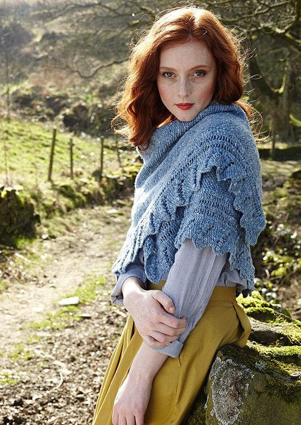 Fine Donegal by Debbie Bliss | Deramores / Outfit / Fashion / Style / Knitted / Skirt / Yellow / Blue / Red hair /