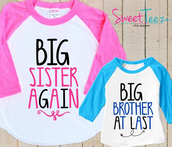 Big Sister Again Shirt Set Arrow Big Brother At by SweetTeezLLC