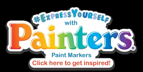 #ExpressYourself with Painters Paint Markers! Click here to see the Glue 'n Glitter board full of inspiration and craft projects.