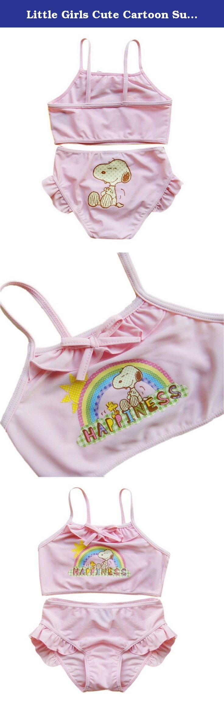 Little Girls Cute Cartoon Summer Sling Swimsuit Tankini,Pink,Size 2. Using natural fabrics such as cotton comfort, printing and dyeing are active green dye, to ensure natural health. High-end fabrics, unique technology, exquisite workmanship. Cartoon embroidered; No distortion, comfortable and breathable. Size : Height 2(18-24M): 35.5 inch (90cm); 3(2-3Y): 37.5 inch (95cm); 4(3-4Y): 38.5-41 inch (98-105cm); 5(4-5Y): 41.5-43 inch (105-110cm); 6(5-6Y): 43.5-47 inch (110-120cm). .