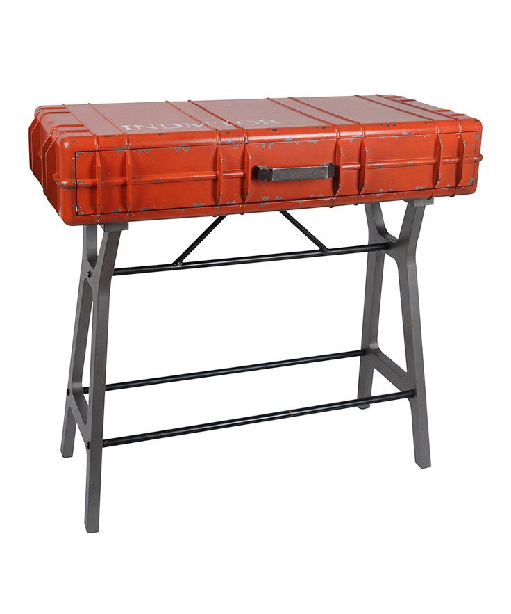 Red Console Table Desk