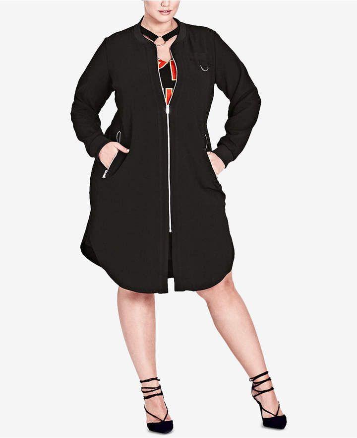 City Chic Trendy Plus Size Dressy Topper Jacket