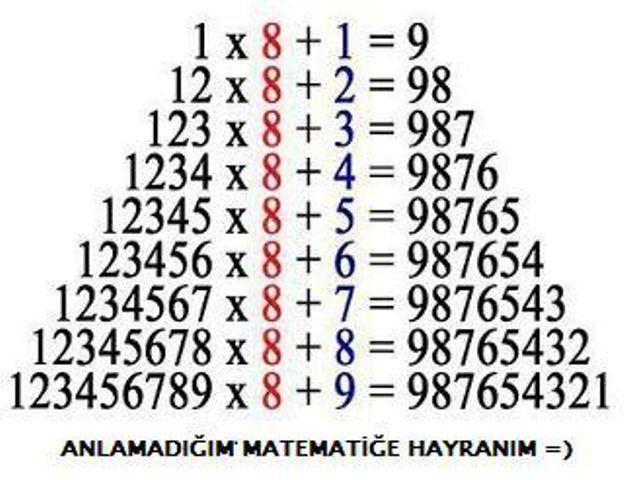 matematiği hakkaten çok seviyorum. matematik = düzen.