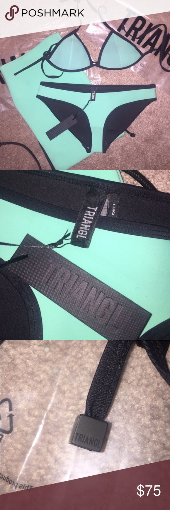 BRAND NEW Triangl Bikini BRAND NEW!! Authentic triangl bikini! Small top and large bottoms. Comes with original bags! Hypoallergenic liners still on bikini bottoms triangl swimwear Swim Bikinis