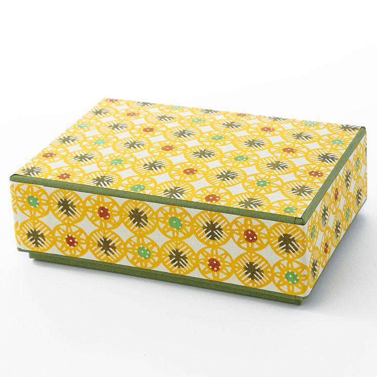 八尾和紙 はがき箱