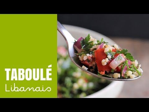 Taboulé Libanais (vegan) | Envie D'une Recette végétalienne?