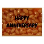 Anniversary Humor - Couple Of Favorite Human Beans Card...