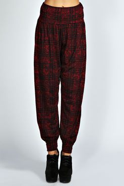 Mitsy Floral Check Hareem Trouser