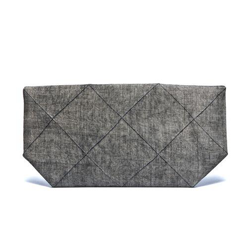 연한 먹염 십자주름 클러치백Traditional natural dyeing clutch Bag