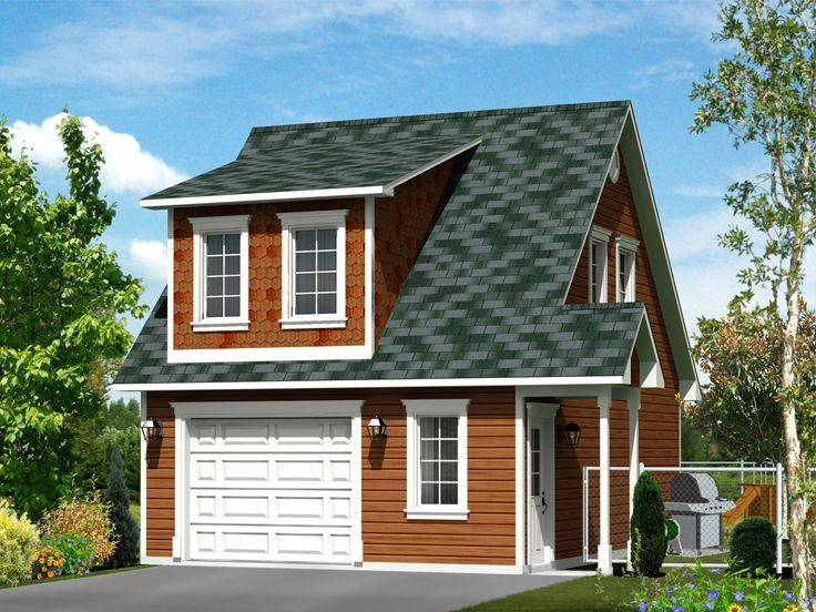 Garage Apartment Plans | 1-Car Garage Apartment Plan with Boat Storage # 072H-0033 at TheGaragePlanShop.com