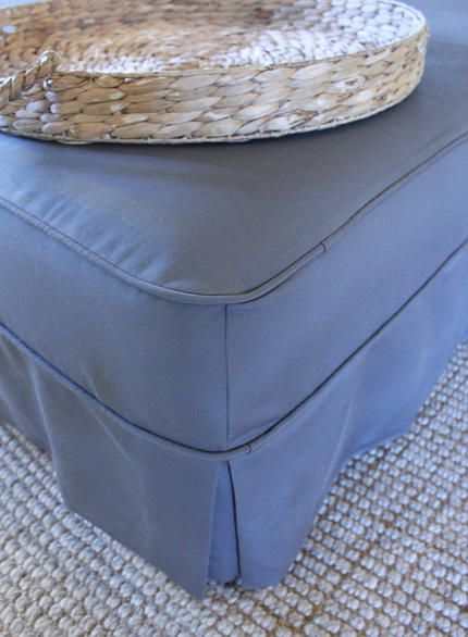 HOW TO MAKE A SLIPCOVER FOR AN OTTOMANMeg Milam Home | An Ottoman Slipcover