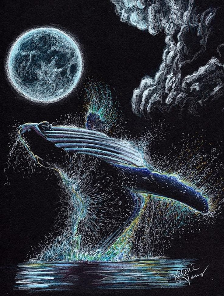 Artwork on black paper