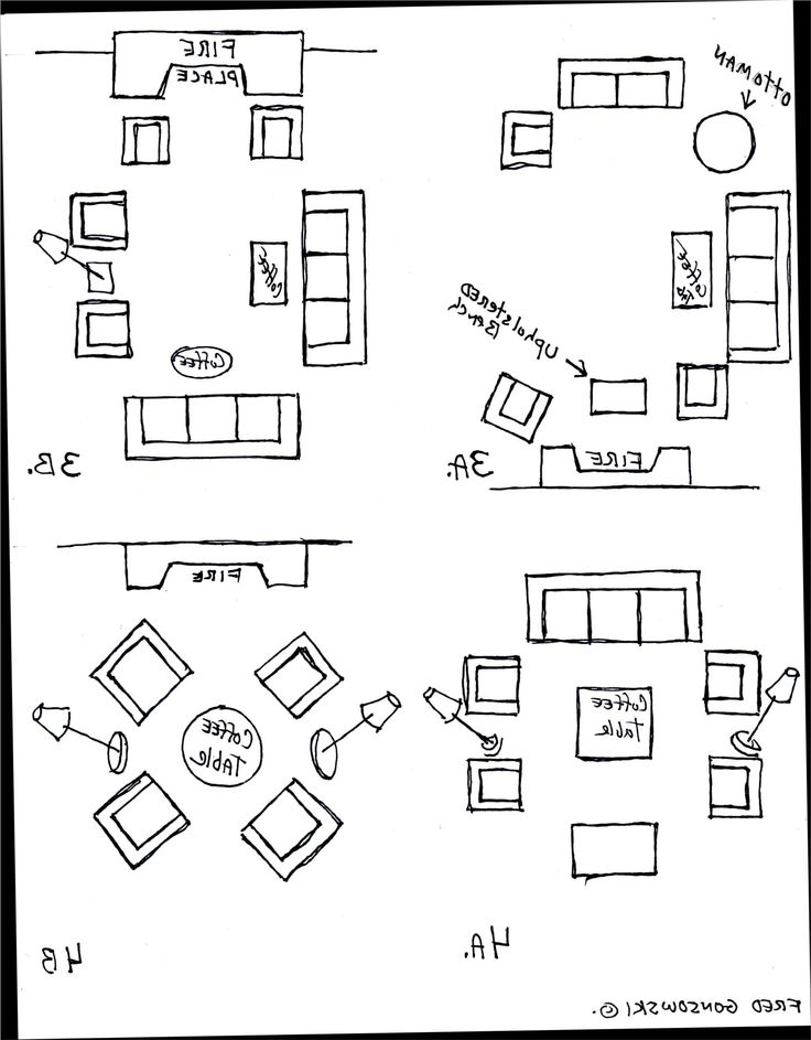 Living Room Design Layout Examples