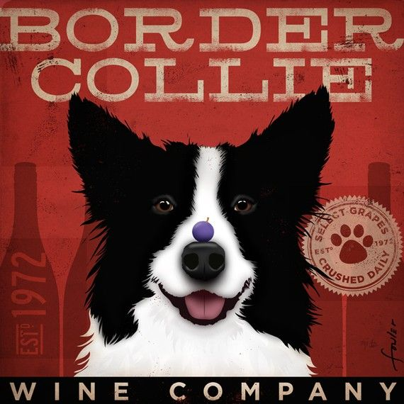 Border collie art: so hanging in my house