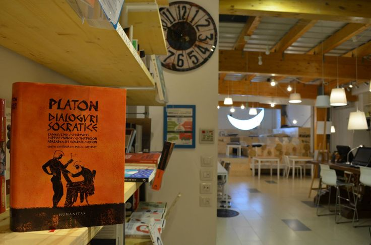 Platon @ Seneca Anticafe ( Ion Mincu no 1 Bucharest) has hundred of books in English, German, French, Italian, Spanish, Russian and of course Romanian