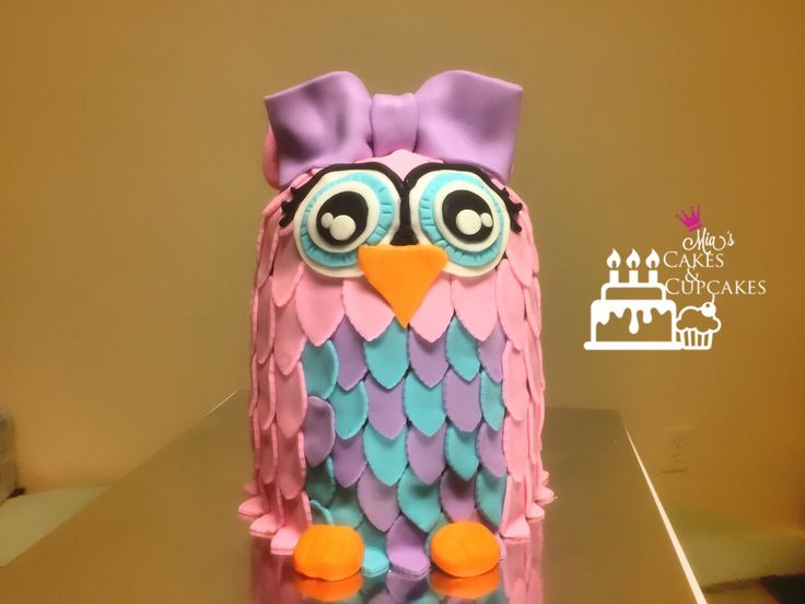 Owl Cake Smash Cake 1st Birthday
