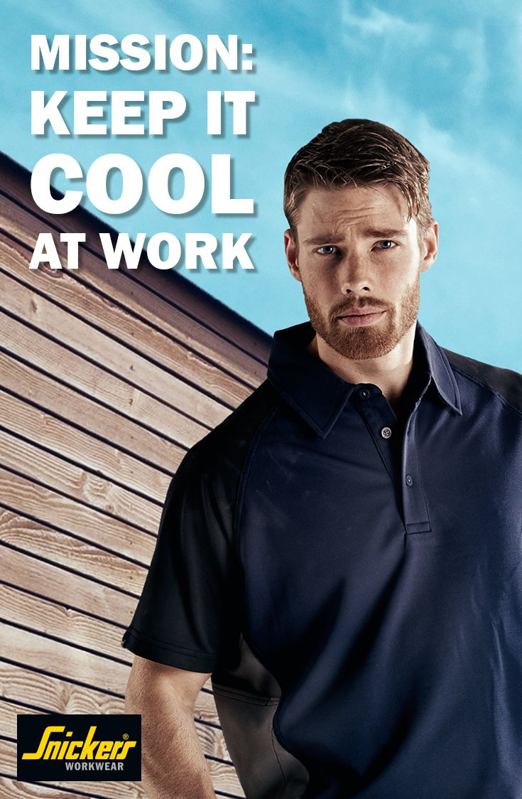 How do you keep it cool when you are working? Learn how Snickers Workwear can help you to stay cool during spring/summer and stay focused. Read more by clicking this pin.