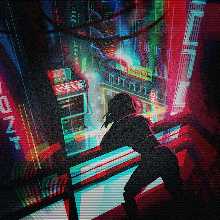 cyberpunk city lights / sci fi city / digital art