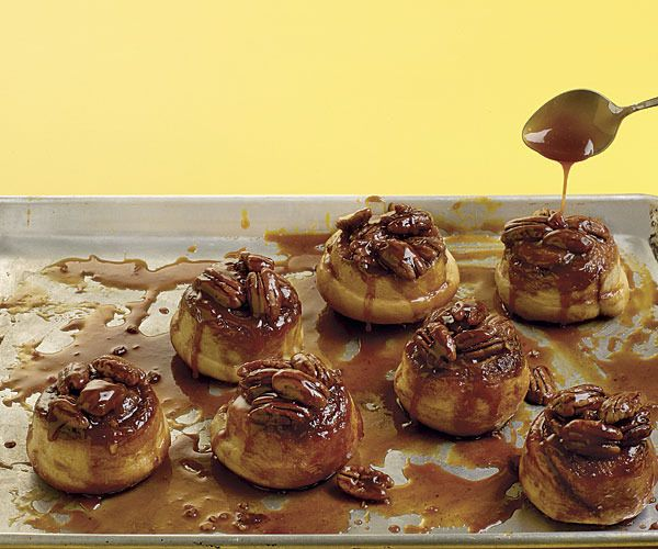Overnight Banana Sticky Buns with Pecans by Fine Cooking