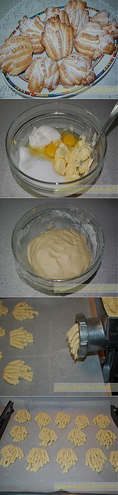 Печенье Хризантема - Кулинарные рецепты