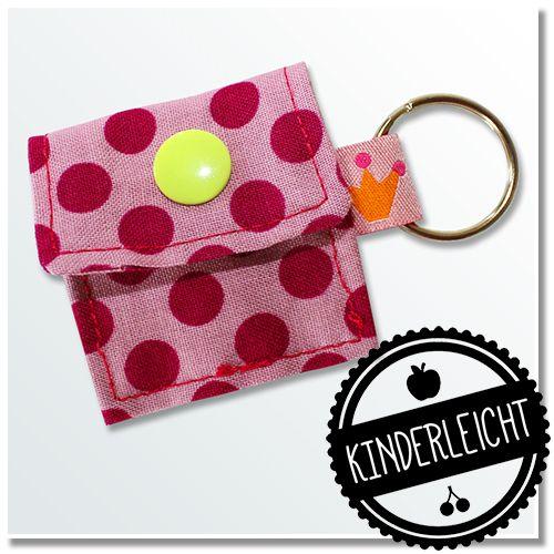 KINDERleicht und schön | Nähen mit Cherrygrön: Schlüsselanhänger Chiptäschchen