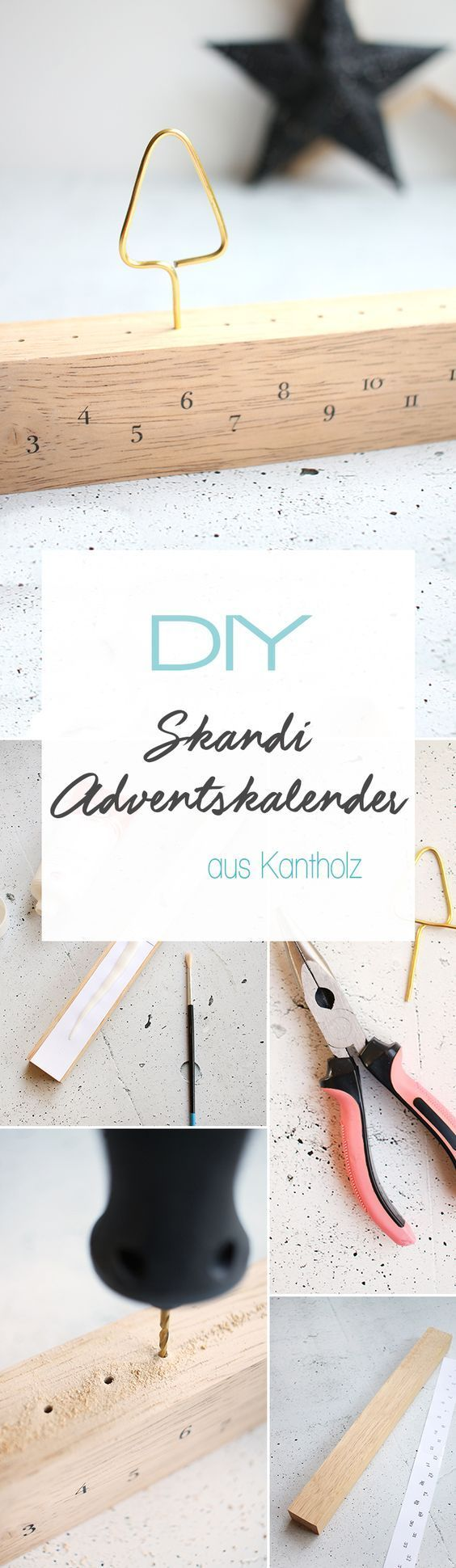 Do it yourself: Schlichter Adventskalender aus Kantholz basteln