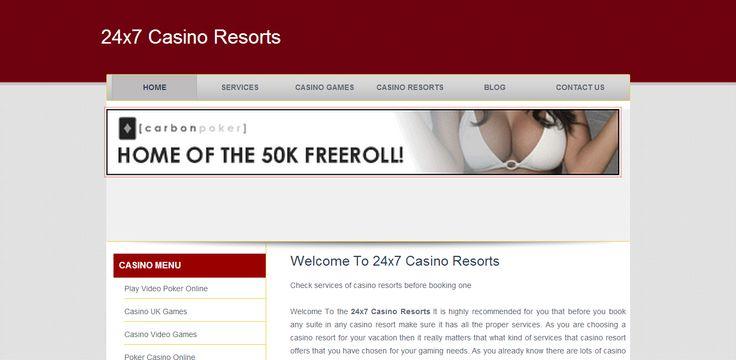 Play casino games 24x7 at http://www.24x7casinoresorts.co.uk/