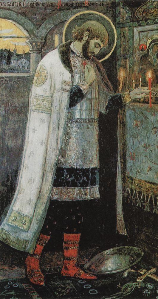 Михаил Васильевич Нестеров » Картины, живопись » Князь Александр Невский, 1894-1897