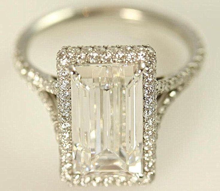 Stunning F/VVS2  1.75 carats total  Emerald Cut by BeautifulPetra, $4,750.00