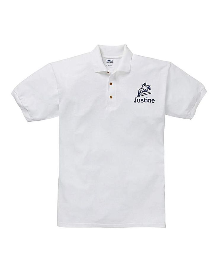 The Brilliant Gift Shop Personalised Horse Riding Polo Shirt Personalise with name up to 12 letters. http://www.MightGet.com/january-2017-13/the-brilliant-gift-shop-personalised-horse-riding-polo-shirt.asp