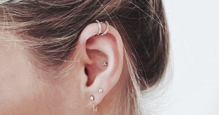 Für alle, denen ein Septum zu krass ist: Dezente Ohren-Piercings, gegen die auch Mutti garantiert nichts hat