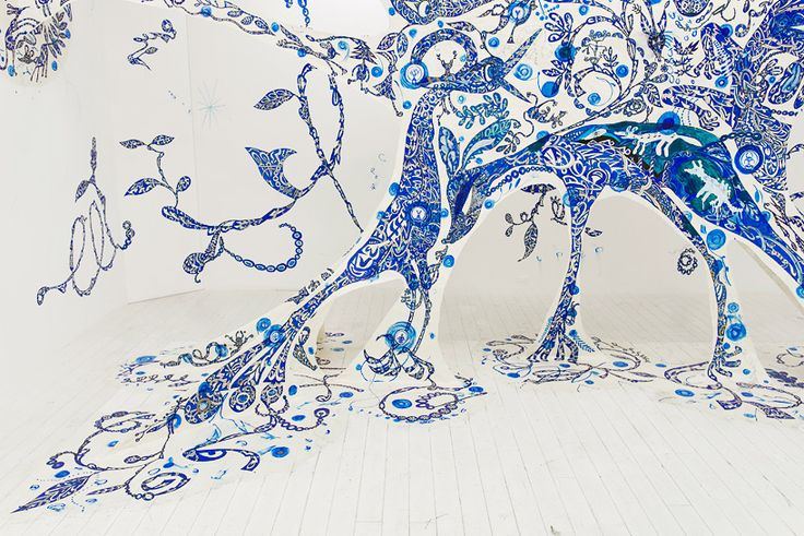 Hand painted installation by Yusuke Asai | iGNANT.de