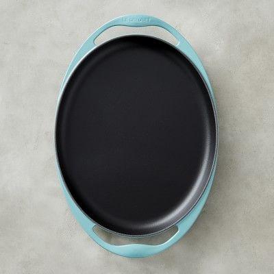 """Le Creuset Cast-Iron Sizzle Platter, 12 1/4"""", Caribbean"""