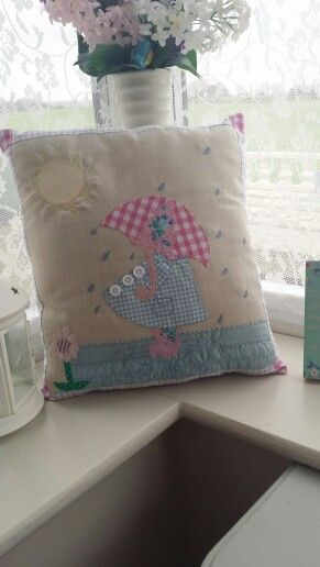 Adorable sun bonnet cushion from sew lovely by gail.