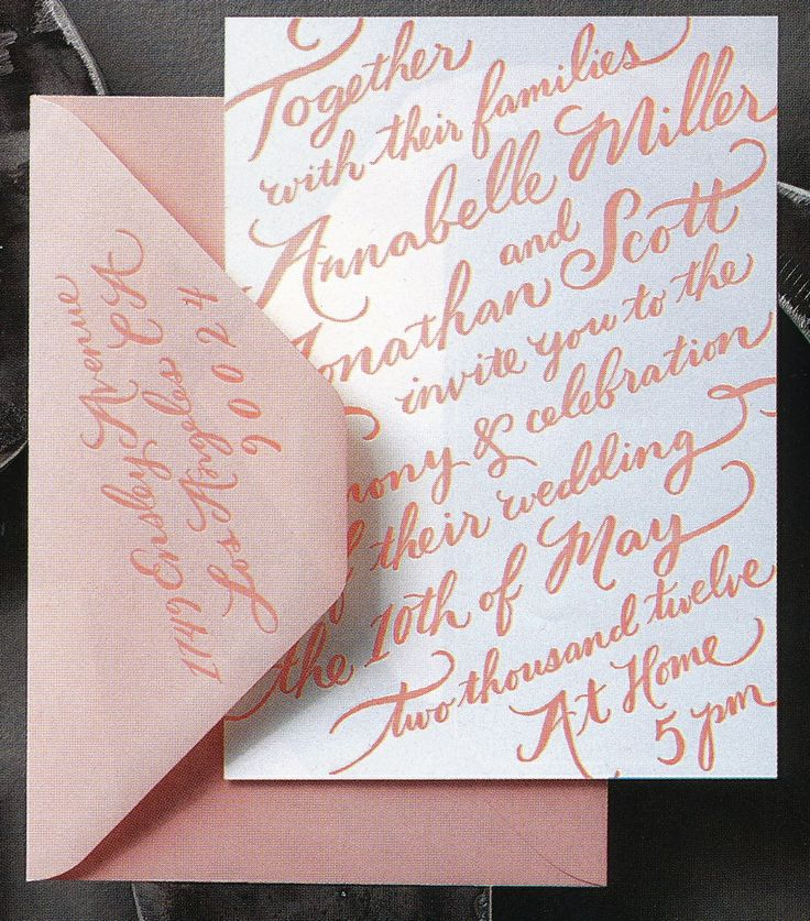 sister marriage invitation letter format%0A Sugar Press handletter invitation how cool for an invite of any kind