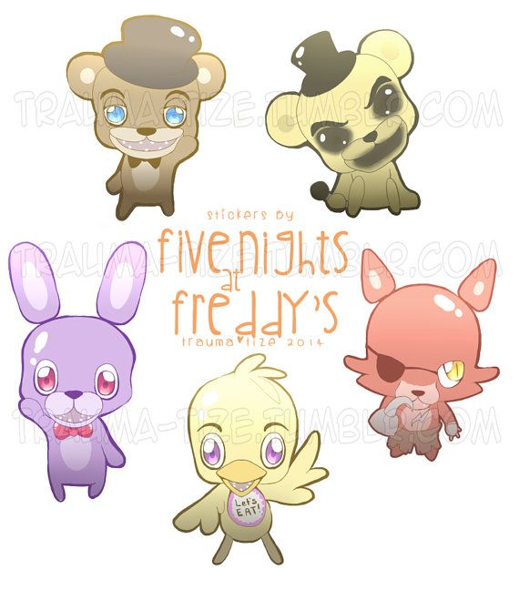 Five Nights at Freddy's stickers by TraumaTize on Etsy