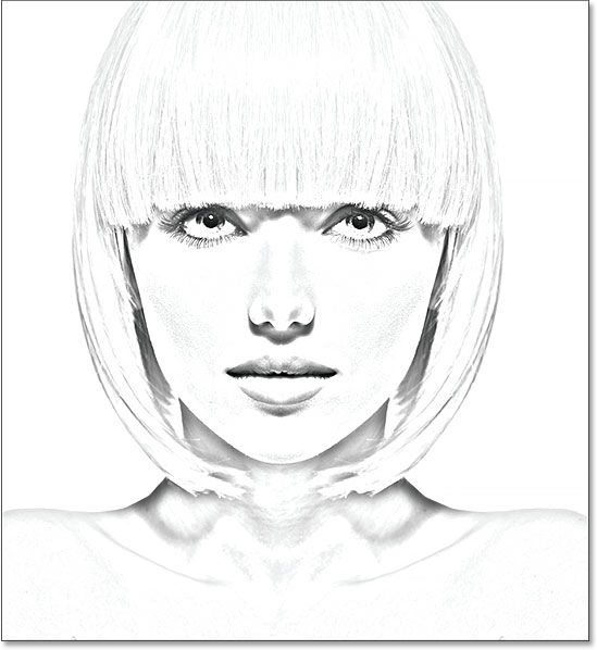 A black and white photo to sketch effect in Photoshop. Image © 2016 Photoshop Essentials.com.