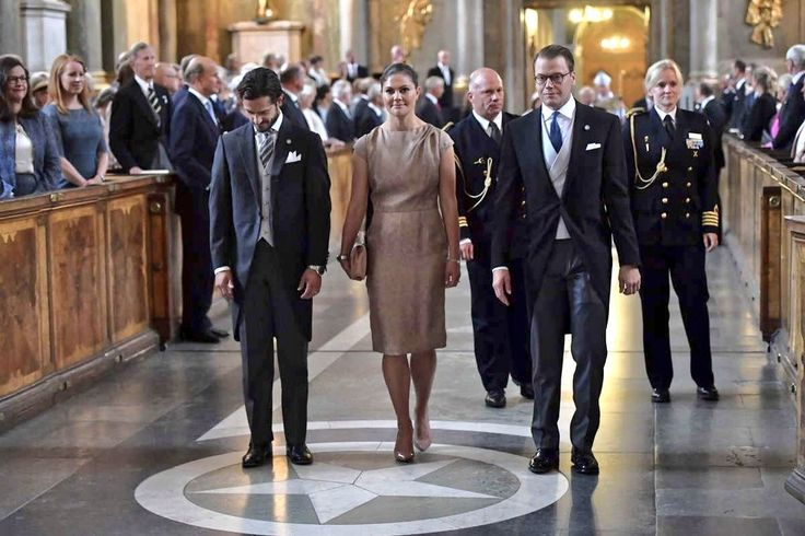 The Swedish Royal Family attended a Te Deum service in honor of the birth of Prince Gabriel ~ 4 Sep 2017
