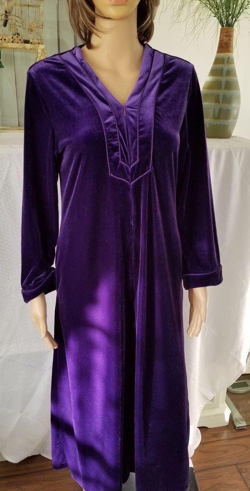 Oscar De La Renta Pink Label Purple Plush Robe Size M/L Hidden Zipper Nordstrom #OscardelaRentaPinkLabel #Robes