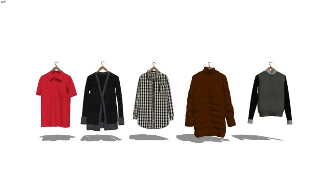 Hanging Shirts/Jackets - 3D Warehouse