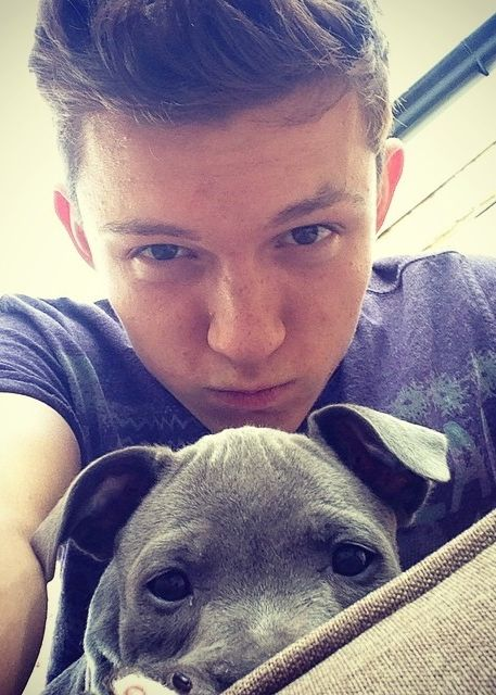 Tom Holland and his doggie Tessa