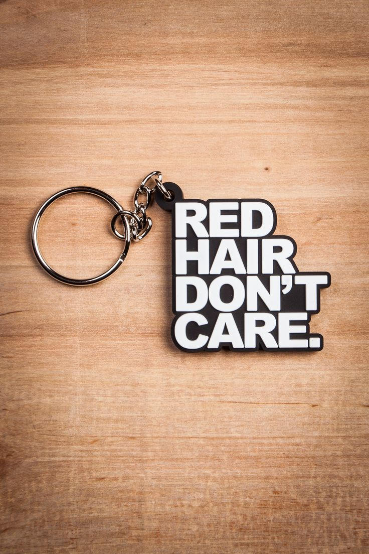 Red Hair Don't Care Keychain