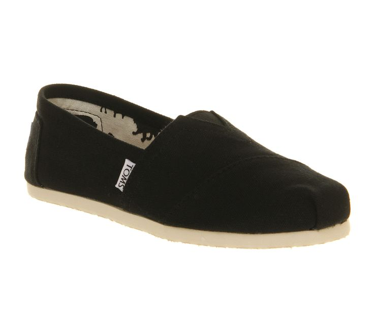 Toms Classic Slip On Black Canvas - Flats