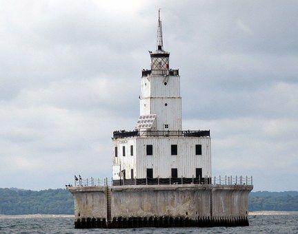 灯台, ミシガン湖, セーリング, ミシガン州, 湖, 光, 航海