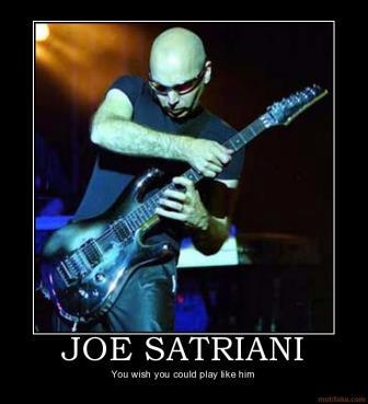 Joe Satriani, a nice italian boy:  guitar instructor to the guitar gods!  You wish you could've studied under him, too!