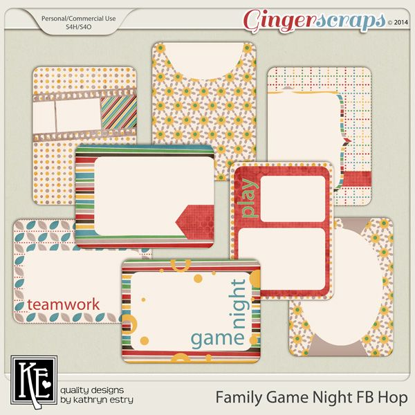 "FREE GingerScraps DSD 2014 ""Family Game Night"" Facebook Hop : GingerScraps"