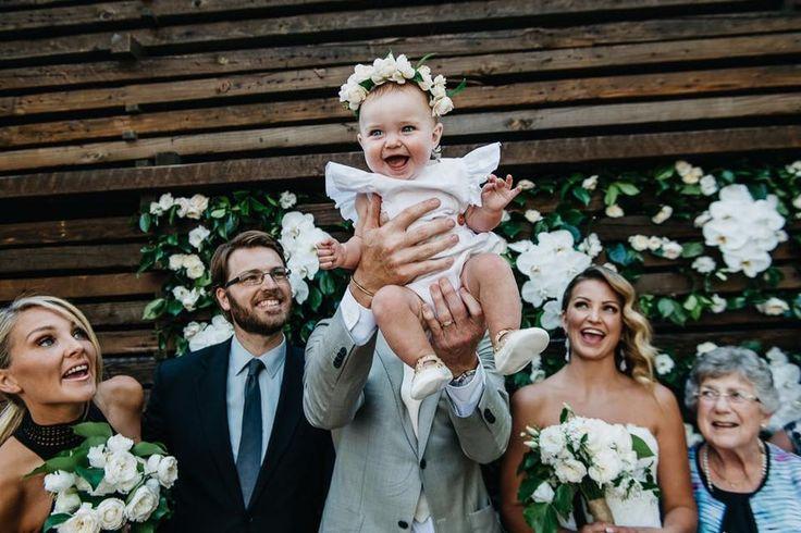 family wedding intimate wedding summer flower crown